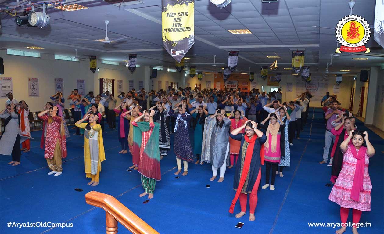International Yoga Day Celebrated at Arya